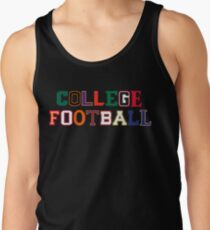 College Football Letters Tank Top