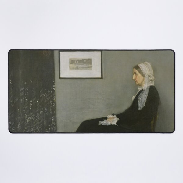 Whistlers Mother Oil Painting by James McNeill Whistler Desk Mat
