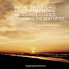 Beach Sunrise with Quote by Jacqueline Cooper