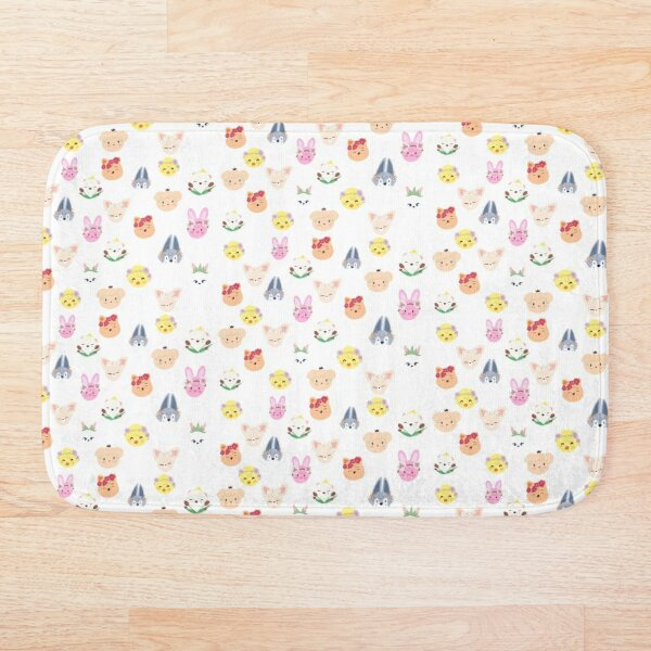 skzoo birth flower design Bath Mat