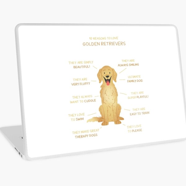 10 Reasons to love Golden Retrievers Laptop Folie