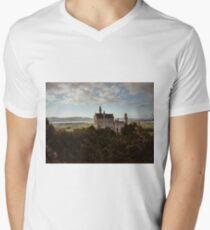 Neuschwanstein Castle in Germany  Mens V-Neck T-Shirt