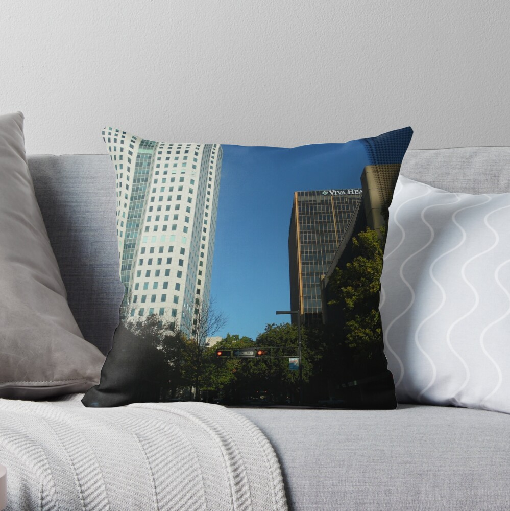 Engulfed in the Scene Throw Pillow