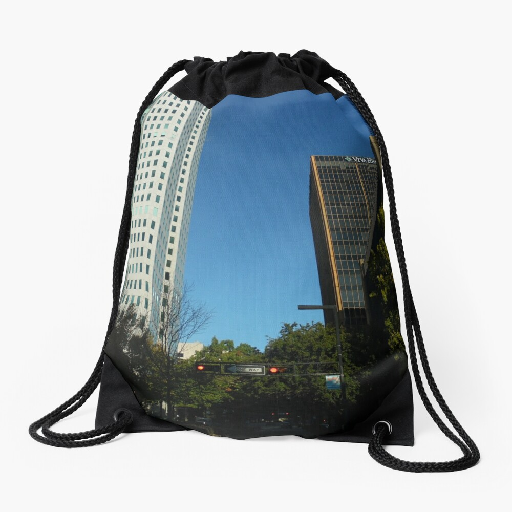 Engulfed in the Scene Drawstring Bag Front