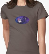 Penguin in Space Women's Fitted T-Shirt