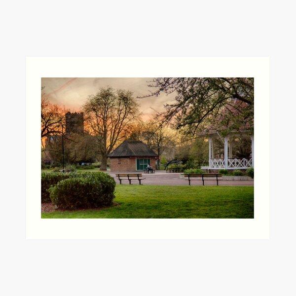 Springtime Sunset in Chapelfield Gardens Art Print