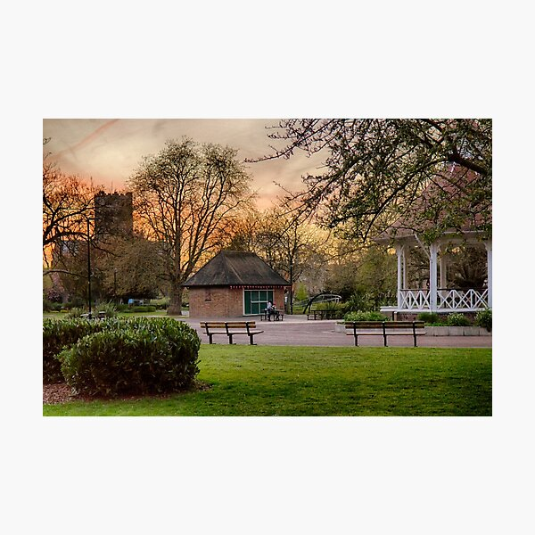 Springtime Sunset in Chapelfield Gardens Photographic Print