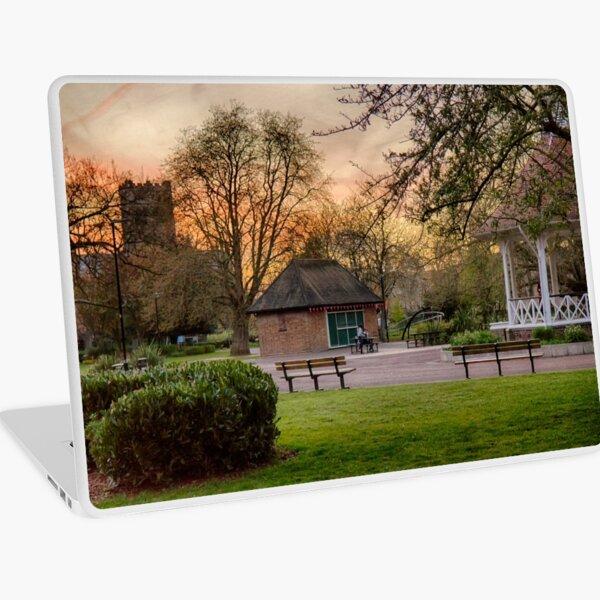 Springtime Sunset in Chapelfield Gardens Laptop Skin