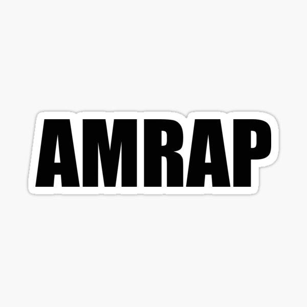 AMRAP Sticker