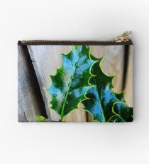green holly leaf Studio Pouch