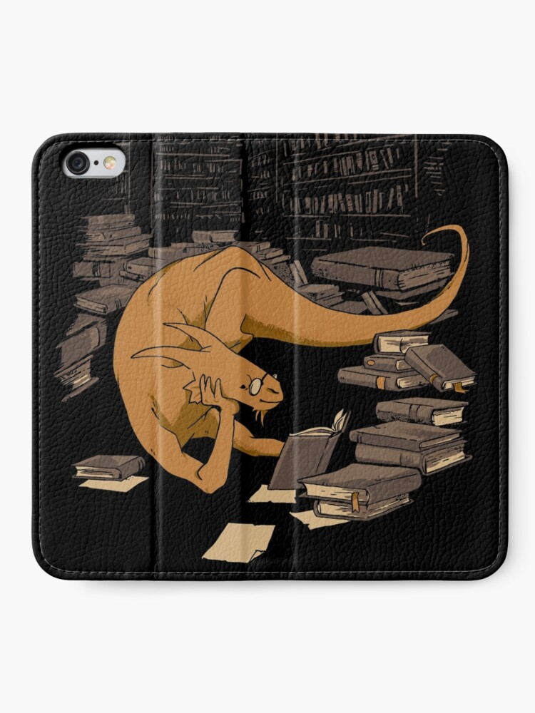 Alternate view of The Book Wyrm iPhone Wallet