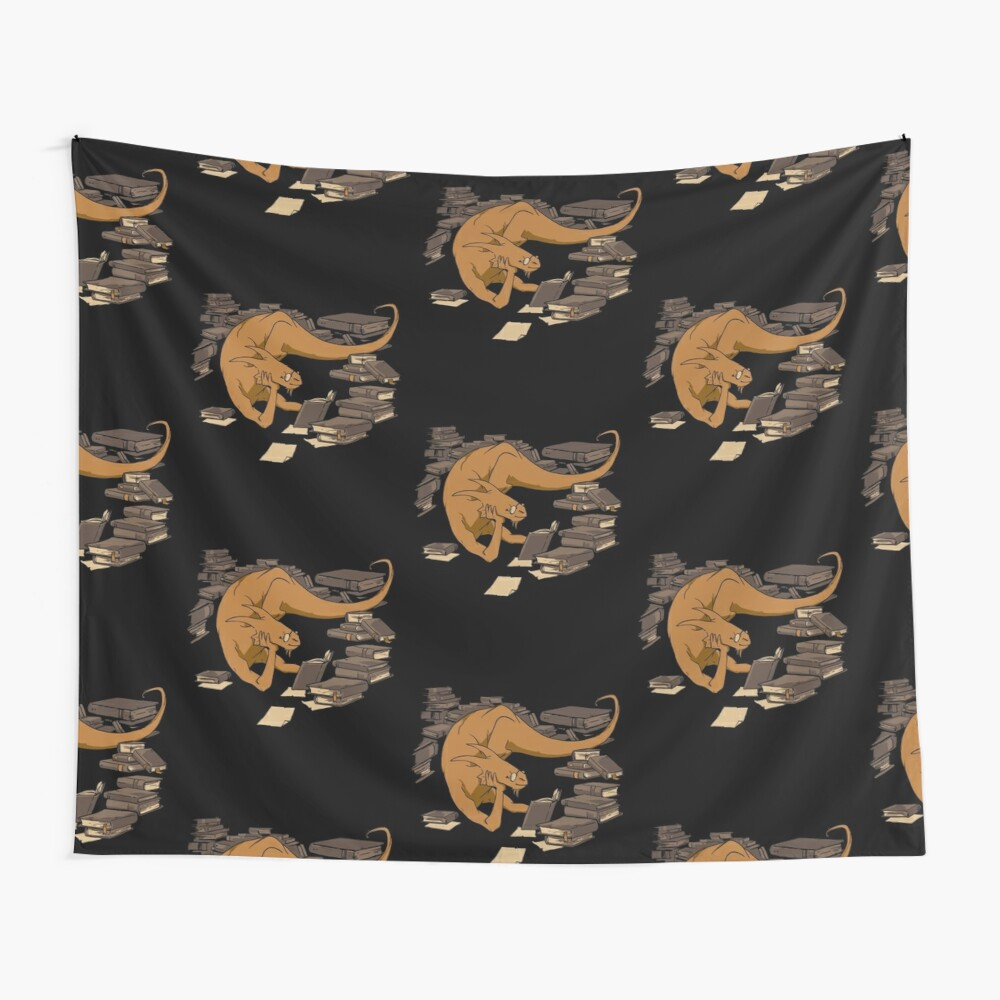 The Book Wyrm Wall Tapestry