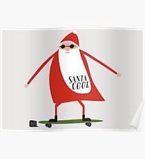 Santa Cool Poster