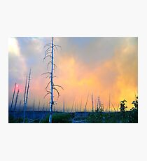 Fire in Glacier NP Photographic Print