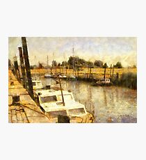 Yacht Port of Lillo - Belgium Photographic Print