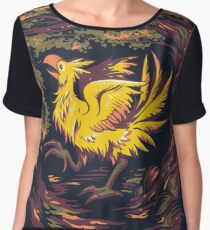 Chocobo with Blossoms Chiffon Top