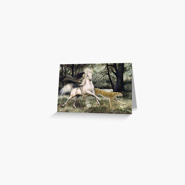 Elvish way with all good beasts Greeting Card