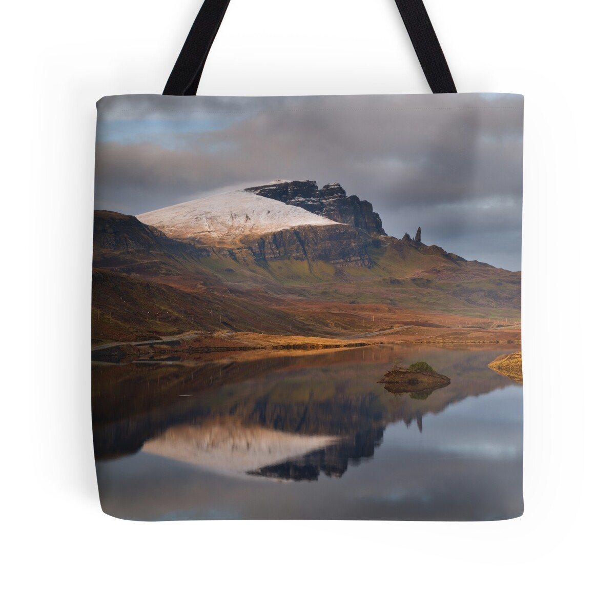old man of storr reflection trotternish isle of skye. Black Bedroom Furniture Sets. Home Design Ideas