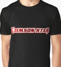 Crimson Star Title Logo Graphic T-Shirt