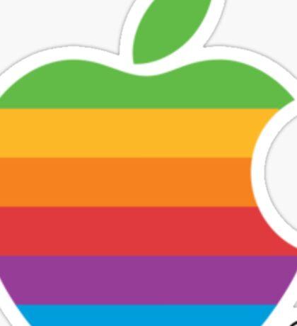 Apple Rainbow Logo Sticker