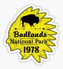 BADLANDS NATIONAL PARK SOUTH DAKOTA MOUNTAINS HIKING CAMPING HIKE CAMP BOATING FISHING 4 Sticker