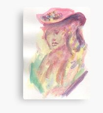 Watercolor Bust Canvas Print