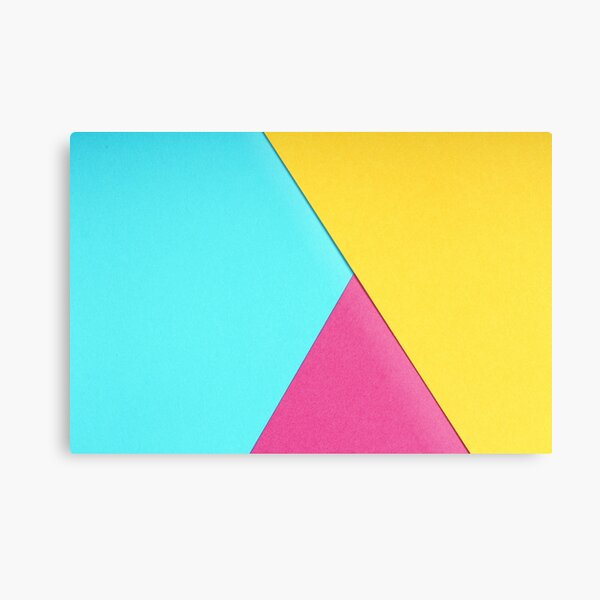 Tricolor Metal Print