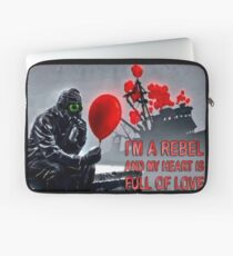 Rebel with a heart full of love Laptop Sleeve