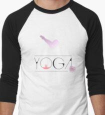 yoga namaste indien sport meditation rose pink blume hund budda Baseballshirt mit 3/4-Arm