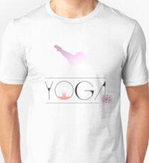 yoga namaste india sport meditation rose pink flower dog budda Unisex T-Shirt