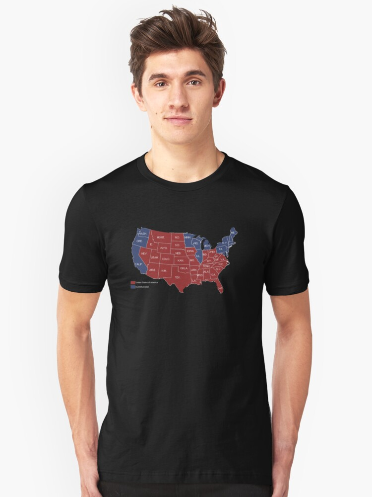 DUMBFUCKISTAN Map Presidential Election Map Shirt T - Tee shirt us map dumbfuckistan