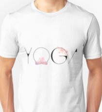 yoga lotussitz namaste indien sport meditation rose pink blume  budda Unisex T-Shirt