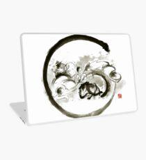 Aikido enso circle martial arts sumi-e original ink painting artwork Laptop Skin