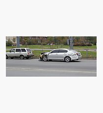 car accident while overtaking Photographic Print