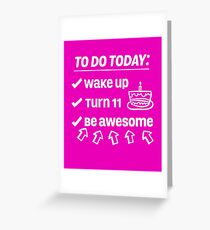 11th Birthday Checklist Be Awesome 11 Years Old T-Shirt Greeting Card