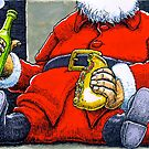 Santa relaxes with a kebab by MarkHackett