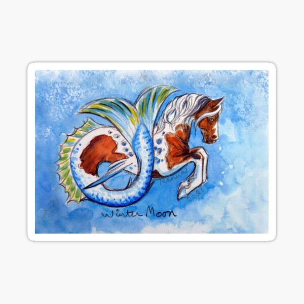 Seaponies of Chincoteague: Winter Moon Sticker