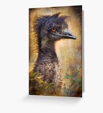 Finer Feathered Friends: Emu Greeting Card
