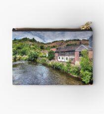 """""""La Vesdre"""" River in Trooz, Belgium Studio Pouch"""