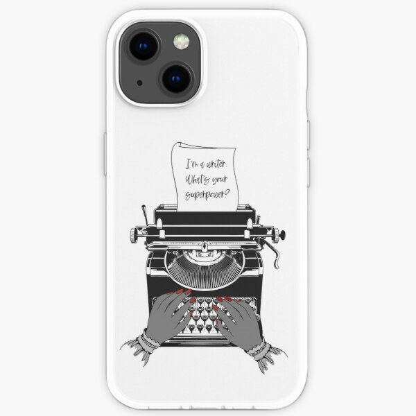 Writing Is My Superpower iPhone Soft Case