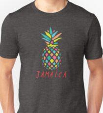 Tropical Pineapple Jamaica Slim Fit T-Shirt