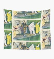 Clowns themed vintage French art gallery advertisement Wall Tapestry