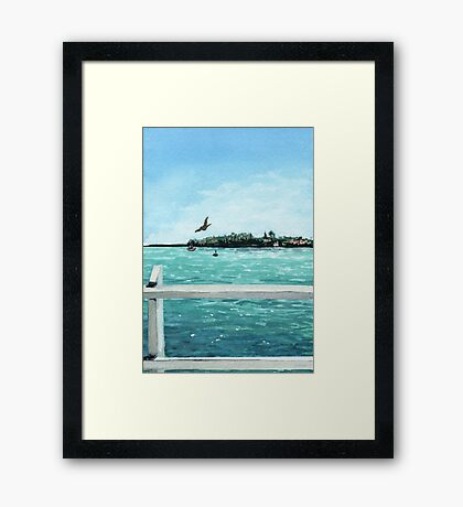 West Cliff Across the Water Framed Print