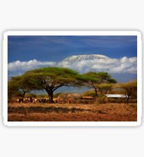 Kilimanjaro, and the Acacia Trees. Kenya, Africa. Sticker