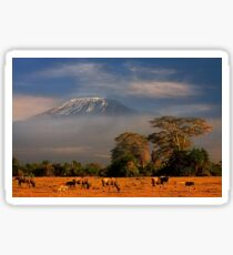 Kilimanjaro in early morning light, Amboseli National Park, Kenya, Africa. Sticker