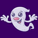 Cute Retro Ghost by fizzgig