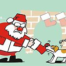 Xmas tug of war by Matt Mawson