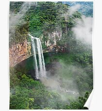 Waterfall in Brazil Poster