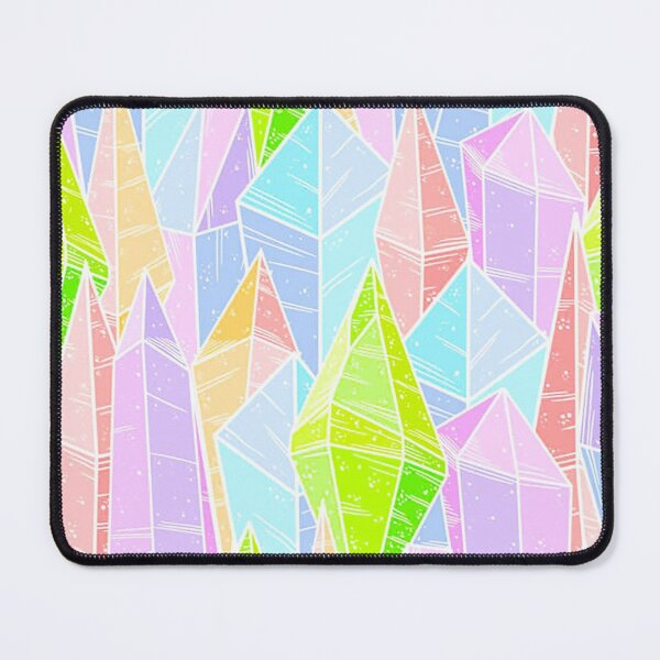 gems and minerals, stalagtites, pastel gems Mouse Pad
