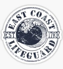East Coast Lifeguard Sticker